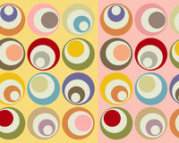 Retro colorful circles collage stock illustration