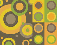 Retro colorful circles collage Royalty Free Stock Image