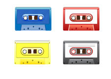 Retro Colorful Music Cassettes. Vector graphics of audio cassette tapes Royalty Free Stock Photography