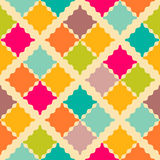 Retro colorful seamless pattern.  illustration Royalty Free Stock Image