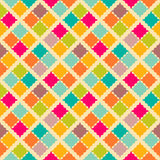 Retro colorful seamless pattern.  illustration Stock Images
