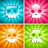 Retro Colorful Skulls Stock Photography