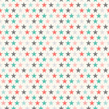 Retro colorful star seamless pattern. Vector vector illustration