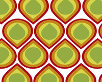 Retro colorful teardrops collage Stock Images