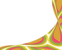 Retro colorful teardrops warped border royalty free illustration
