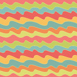 Retro colorful wave pattern. Pop seamless background. Stock Photos