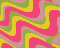 Retro colorful wavy swoops stock illustration