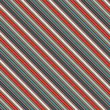 Retro colors diagonal stripes abstract background. Thin slanting line wallpaper. Seamless pattern with classic motif. Stock Image