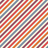 Retro colors diagonal stripes abstract background. Thin slanting line wallpaper. Seamless pattern with classic motif. Royalty Free Stock Image