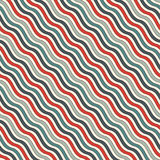 Retro colors diagonal wavy stripes seamless pattern. Repeated line wallpaper. Abstract background with classic motif. Retro colors diagonal wavy stripes Stock Illustration
