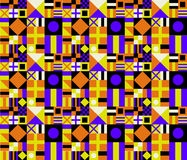 Retro Colors Geometric Pattern. Retro Color Palette Seamless Background Royalty Free Stock Photos