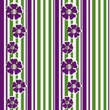 Retro colors geometrical floral pattern background Royalty Free Stock Photography