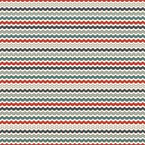 Retro colors horizontal wavy stripes seamless pattern. Blue and red repeated lines wallpaper with classic motif. Retro colors horizontal wavy stripes seamless Stock Image
