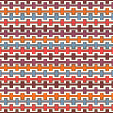 Retro colors seamless pattern with battlement curved lines. Repeated geometric figures wallpaper. Modern surface. Royalty Free Stock Photography