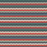 Retro colors seamless pattern with battlement curved lines. Repeated geometric figures wallpaper. Modern surface. Stock Image
