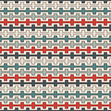 Retro colors seamless pattern with battlement curved lines. Repeated geometric figures wallpaper. Modern surface. Royalty Free Stock Photo
