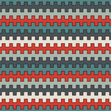 Retro colors seamless pattern with battlement curved lines. Repeated geometric figures wallpaper. Modern surface. Royalty Free Stock Images