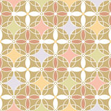 Retro colors seamless pattern beige background Royalty Free Stock Photos