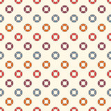 Retro colors seamless pattern with repeated circles. Bubble motif. Geometric abstract background. Modern surface texture Royalty Free Stock Images