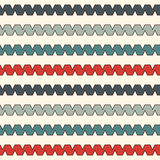 Retro colors seamless pattern with repeated curling ribbon lines.  Royalty Free Stock Image