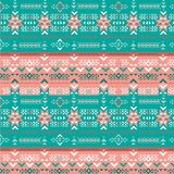 Retro colors tribal vector seamless navajo pattern. aztec abstract geometric art print. vector illustration