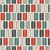 Retro colors vertical lines background. Minimalist wallpaper. Seamless pattern with geometric ornament. Stripes motif. Stock Image