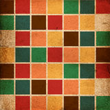 Retro colour bloków wzór Fotografia Stock