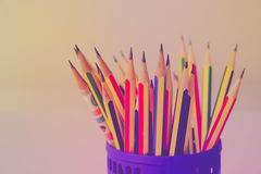 Retro colour pencils Royalty Free Stock Photography
