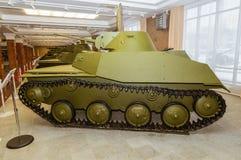 Retro combat armored vehicle exhibit military history Museum, Ekaterinburg, Russia, 05.03.2016 year Royalty Free Stock Image