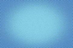 Retro comic blue background raster gradient halftone Royalty Free Stock Photo