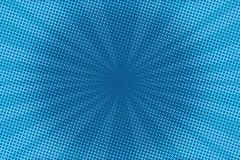 Retro comic blue background raster gradient halftone Royalty Free Stock Images
