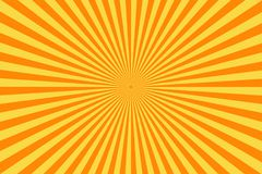 Retro comic book background. Vintage yellow sun rays. Pop art style. Vector stock illustration