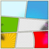 Retro Comic Book Vector Background Stock Photos