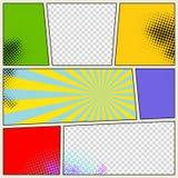 Retro- Comic-Buch-Vektor-Hintergrund Stockbild
