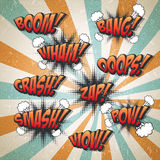Retro comic sound effects set Royalty Free Stock Image