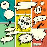 Retro Comic Speech Bubbles Stock Image