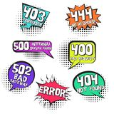 Retro speech bubbles with inernet page errors stock illustration