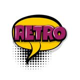Retro comic text white background Stock Images