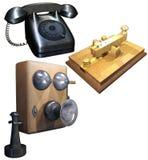 A retro communication facility set Royalty Free Stock Photos