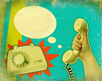 Retro communication poster Royalty Free Stock Photo
