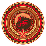 Retro communistic emblem. Royalty Free Stock Images