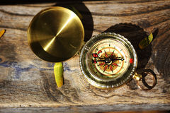 Retro compass Stock Photo