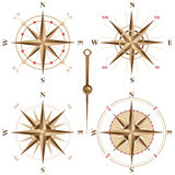 Retro compasses. 4 retro compasses icons - illustration vector illustration