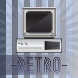 Retro computer Immagine Stock