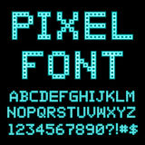 Retro computer alphabet. Font. Vintage letters Vector Illustration
