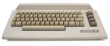 Retro Computer Commodore 64 Stock Photo