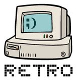 Retro computer Stock Photo