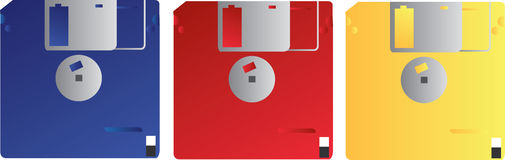 Retro Computer Disks Stock Photography