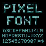 Retro computer font. Old PC alphabet. Vector Vector Illustration