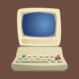 Retro computer item classic antique technology style business personal equipment and vintage pc desktop hardware Royalty Free Stock Images